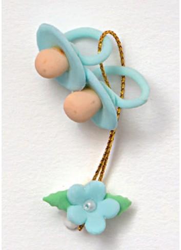 Ciucci con fiorellino azzurro 130355-3 Sweet Baby Ad Emozioni