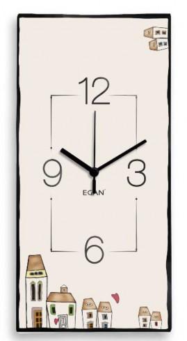 Orologio rettangolare 41 x 21 cm  LC09R/4 Le casette Egan