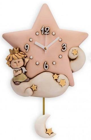 Orologio pendolo Stella rosa Piccoli Principi LP10ST-3R Egan