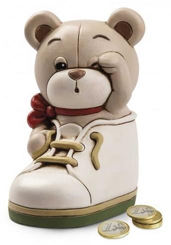 Salvadanaio scarpetta Oliver in ceramica 8 x 13 H. cm OL36S/3SC Il mondo di Oliver Egan