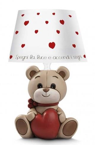 Lampada Oliver con cuore 13 x 30 H. cm OL075/3CU Il mondo di Oliver Egan