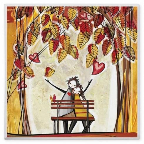 Bustina ricamata con farfallina in legno applicata D5584 Cuoregaio Cuorematto
