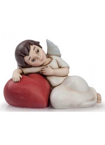 Angelo del cuore disteso rosso AN12 Angeli del cuore Egan