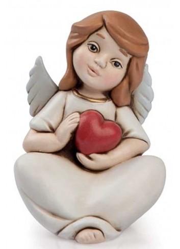 Angelo del cuore seduto rosso AN09 Angeli del cuore Egan