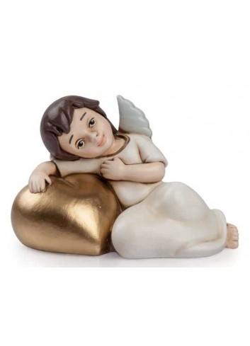 Angelo del cuore disteso oro AN04 Angeli del cuore Egan
