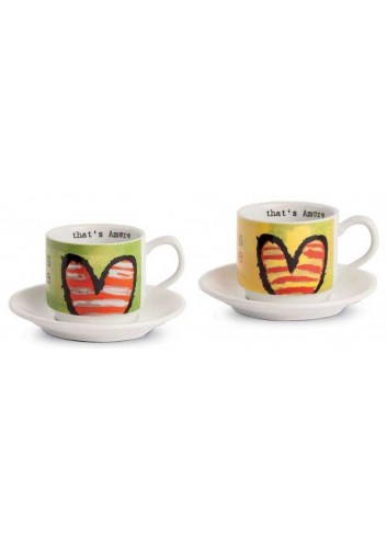 Set due tazzine da caffè giallo e verde PTA021/V That's Amore Egan