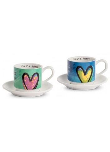Set due tazzine da caffè turchese e blu PTA021/B That's Amore Egan