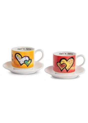 Set due tazzine da caffè arancio e rosso PTA021/S That's Amore Egan