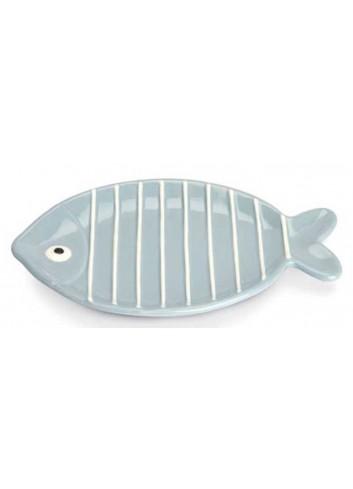 Piatto ovale pesciolino celeste AQ37S/2C-4C Acqua di mare Egan
