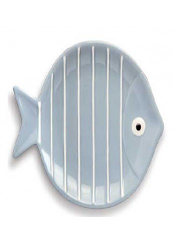 Piatto tondo pesciolino celeste Ø 17 cm AQ37S/1C Acqua di mare Egan