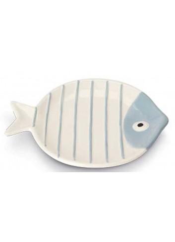 Piatto tondo pesciolino bianco Ø 17 cm AQ37S/1 Acqua di mare Egan