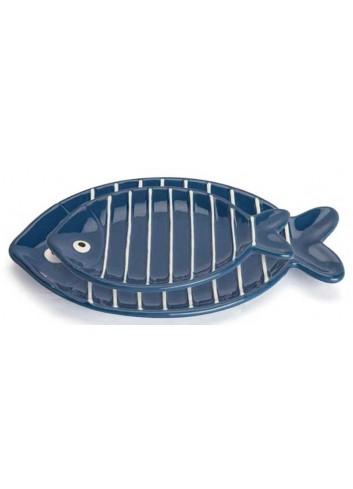 Piatto ovale pesciolino blu AQ37S/2B-4B Acqua di mare Egan