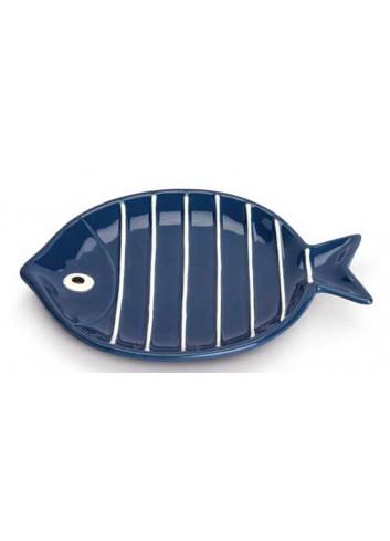 Piatto tondo pesciolino blu Ø 17 cm AQ37S/1B Acqua di mare Egan