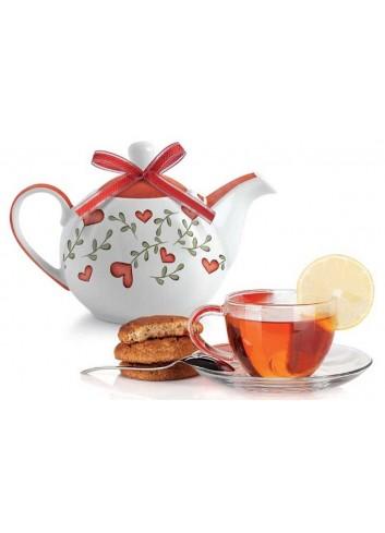 Teiera rossa L'amore e L'amicizia PTE81S/S Tea for Two Egan