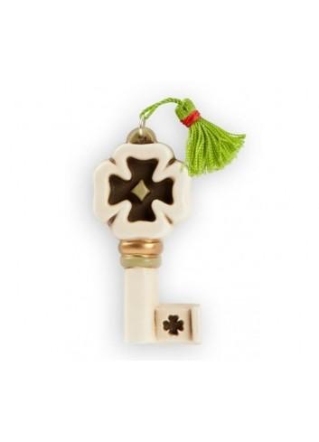 Albero della vita da appoggio verde acqua in ceramica artigianale pugliese