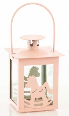 Lanterna piccola Cavallo a dondolo rosa E3375 Kharma Living