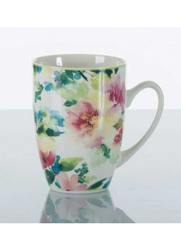 Mug con decorazione fiori colorati  A7636 Kharma Living