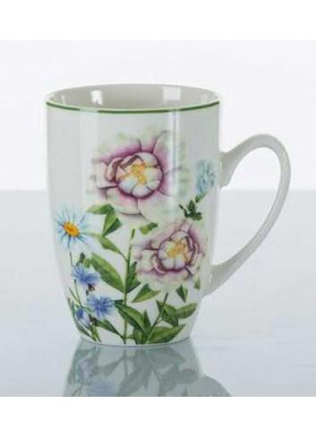 Mug con decorazione erboristeria A7640 Kharma Living