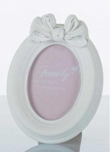 Portafoto ovale shabby bianco con fiocchetto Gala E3244-45 Kharma Living
