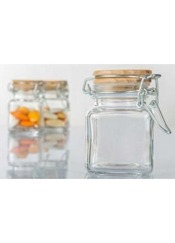 Portaconfetti in vetro con tappo in sughero a chiusura ermetica H3045 Kharma Living