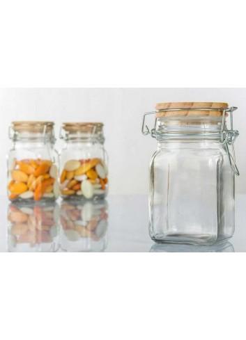 Portaconfetti in vetro con tappo in sughero a chiusura ermetica H3047 Kharma Living