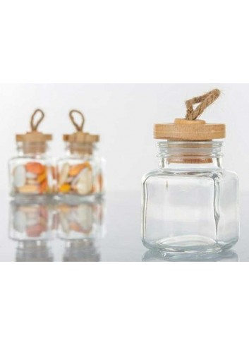 Portaconfetti in vetro con tappo in sughero H3034 Kharma Living
