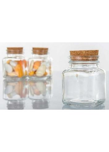 Portaconfetti in vetro con tappo in sughero H2815 Kharma Living