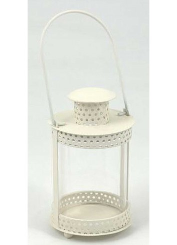 Lanterna tonda in metallo bianco E3163 Kharma Living