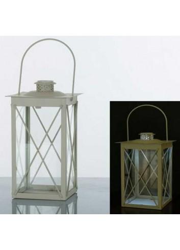 Lanterna rettangolare - griglia in metallo bianco con led E3267 Kharma Living