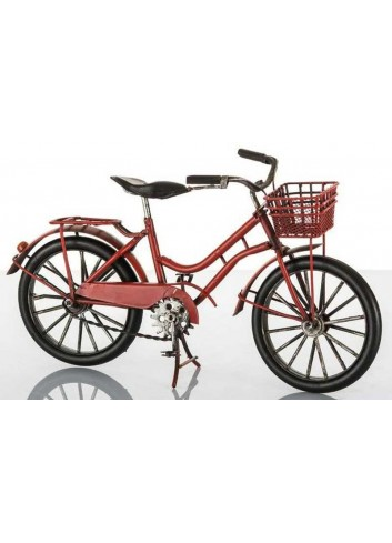 Bicicletta città rossa L. 27 cm E3216 Kharma Living