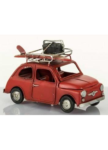 Auto vintage rossa con surf L.16 cm E2979 Kharma Living