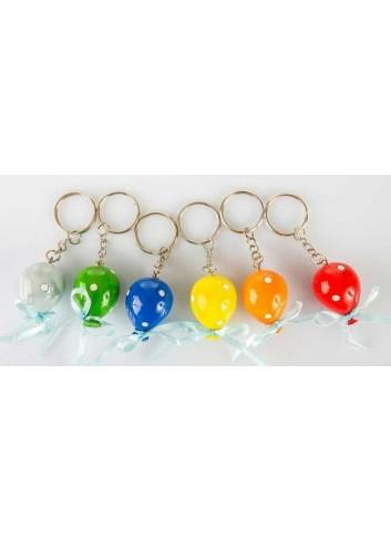 Portachiavi palloncino 6 colori assortiti 3 x 3 cm B9201 Kharma Living