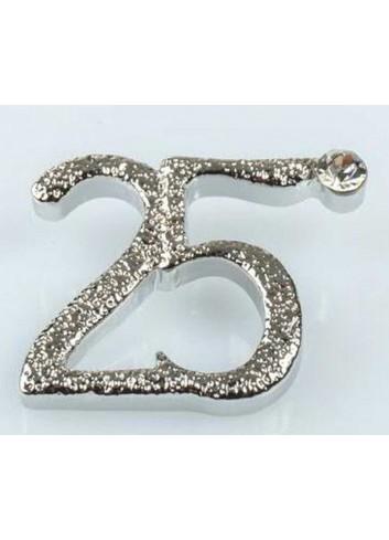 """Applicazione """"25"""" con passante per nastrino E3281 Kharma Living"""