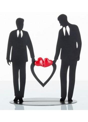 Silhouette Lui e Lui Sposi con magnete cuori E3271 Kharma Living