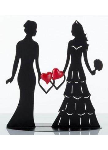 Silhouette Lei e Lei Sposi con magnete cuori E3272 Kharma Living