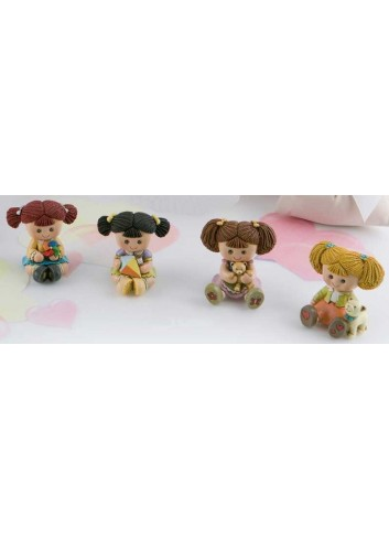 Bambolina mini in resina 4 soggetti assortiti DOLL-01 Doll Margot Italia