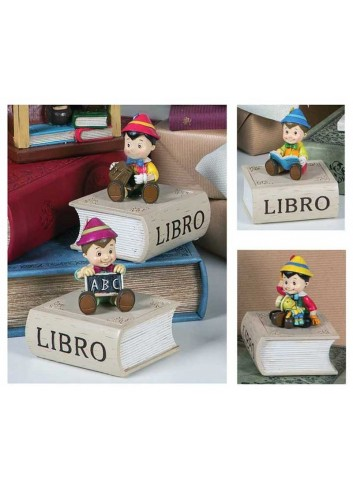 Scatolina Pinocchio in resina 4 soggetti assortiti PIN-2Ast Pinocchio Margot Italia