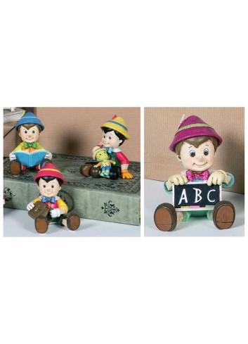 Pinocchio medio in resina 4 soggetti assortiti PIN-8Ast Pinocchio Margot Italia