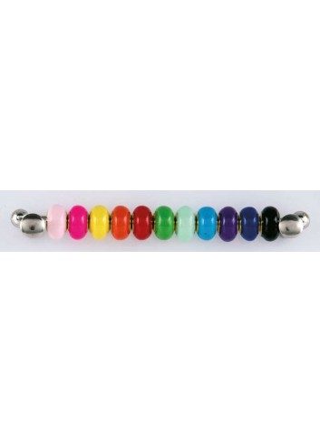 Anello con ciondolo fiore in acciaio color argento con charms KEY-020 Portachiavi Key Margot Italia