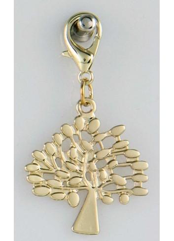 Ciondolo pieno albero della vita in acciaio color oro CH-044 Ciondoli Margot Italia
