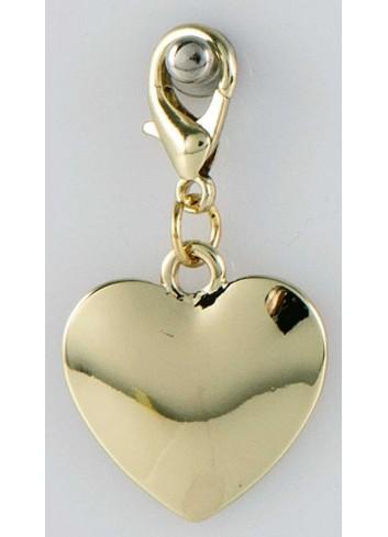 Ciondolo pieno cuore in acciaio color oro CH-045 Ciondoli Margot Italia