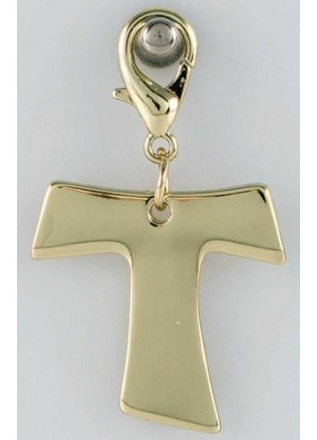 Ciondolo pieno croce in acciaio color oro CH-047 Ciondoli Margot Italia