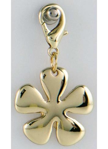 Ciondolo pieno fiore in acciaio color oro CH-050 Ciondoli Margot Italia
