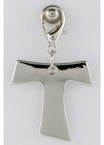 Ciondolo pieno croce in acciaio color argento  CH-057 Ciondoli Margot Italia