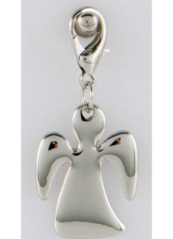 Ciondolo pieno angioletto in acciaio color argento CH-058 Ciondoli Margot Italia