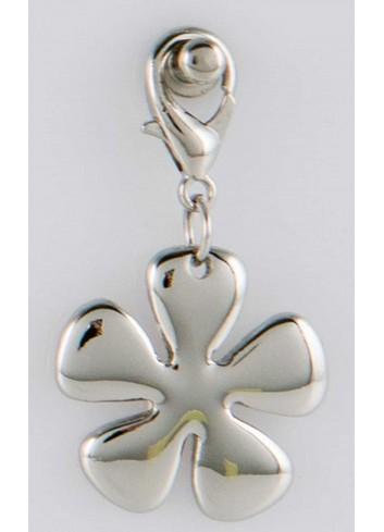 Ciondolo pieno fiore in acciaio color argento CH-060 Ciondoli Margot Italia