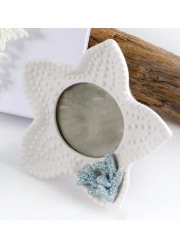 Antipastiera in vetro con base legno - applicazione farfalla 14 x 11 cm D5726 Cuor Raggiante Cuorematto
