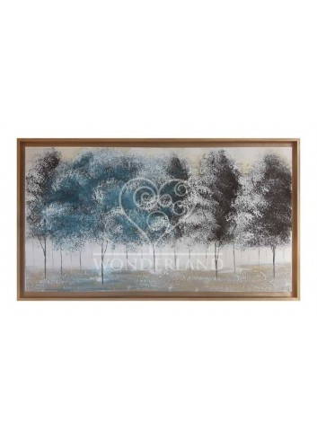 Dipinto su tela Foresta ottanio 130 x 70 cm Art maiora
