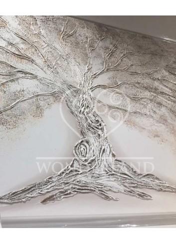 Dipinto su tela La Quercia tonalità bianco-tortora chiaro - Limited Edition