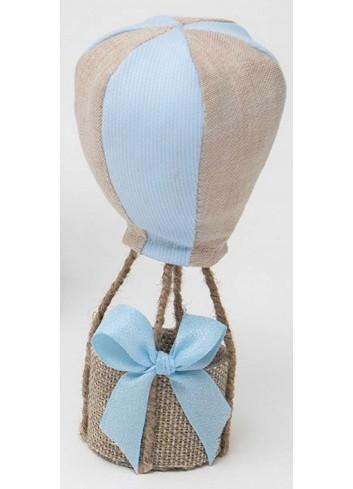 Mongolfiera piccola bicolore celeste-tortora in cotone A8803/3 Baby Balloon AD Emozioni